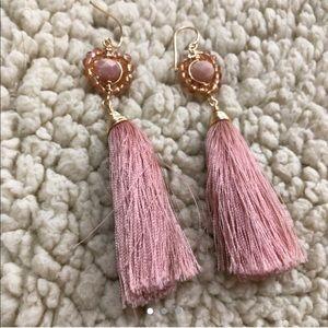 Jewelry - PINK TASEL EARRINGS